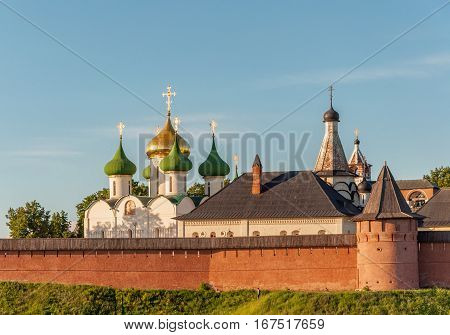 View of the Saviour Monastery of St. Euthymius is a monastery in Suzdal, Russia. Golden Ring of Russia