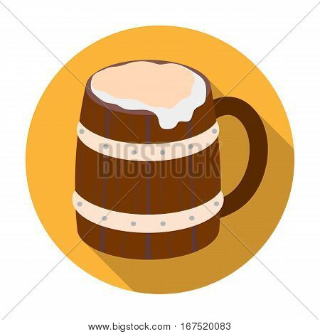 Viking ale icon in flat design isolated on white background. Vikings symbol stock vector illustration.