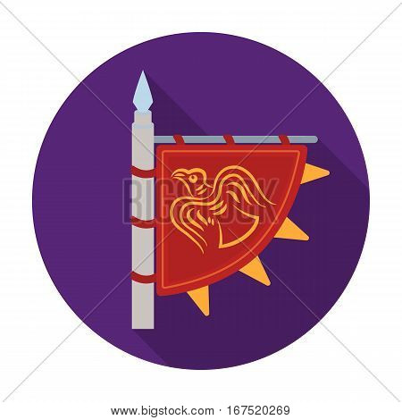 Viking s flag icon in flat design isolated on white background. Vikings symbol stock vector illustration.