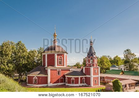 Church of the Dormition or Assumption Church - church in the eastern part of the Suzdal Kremlin Russia. Golden ring of Russia.
