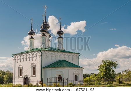 The Orthodox Church in Suzdal. Suzdal is one of the oldest Russian cities. Golden ring of Russia.