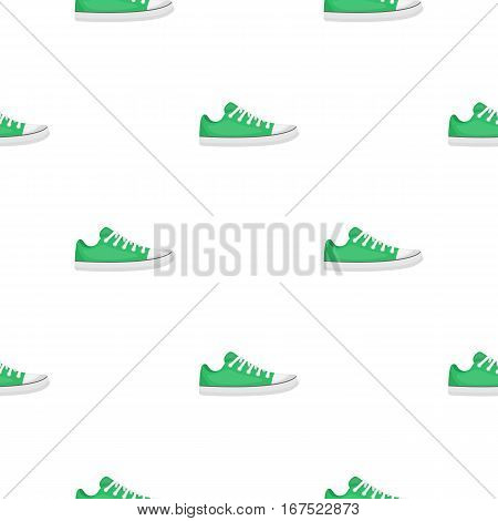 Gumshoes icon in cartoon style isolated on white background. Shoes pattern vector illustration.
