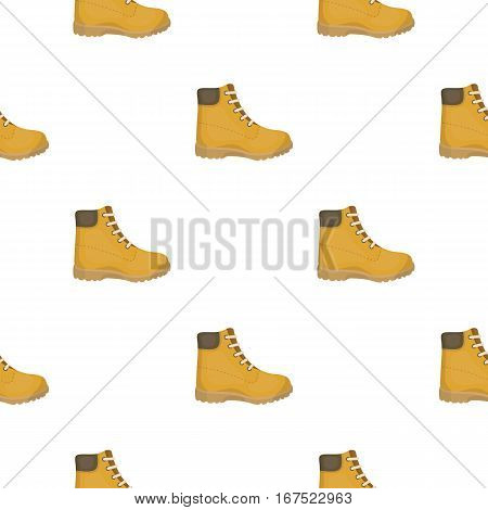 Hiking boots icon in cartoon style isolated on white background. Shoes pattern vector illustration.