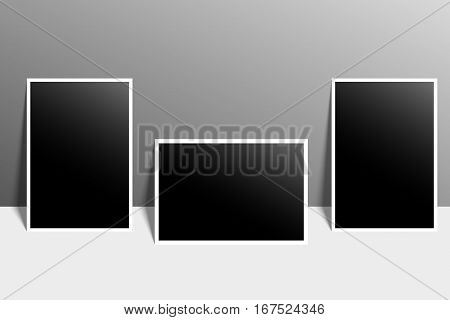 High resolution image of blank photo for designs and frames.