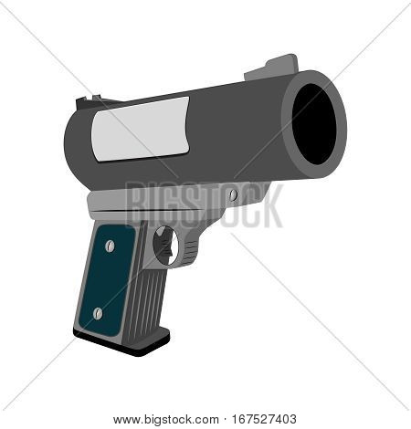 Realistic flare pistol on a white background. Vector illustration