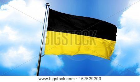 Baden Wurttemberg flag, 3D rendering