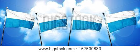 Bavaria, bayern flag, 3D rendering