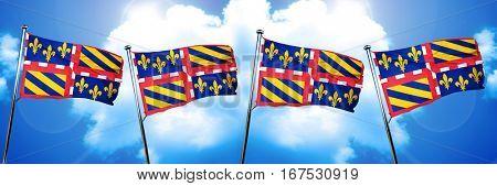 bourgogne flag, 3D rendering