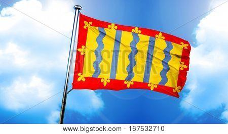 Cambridgeshire flag, 3D rendering