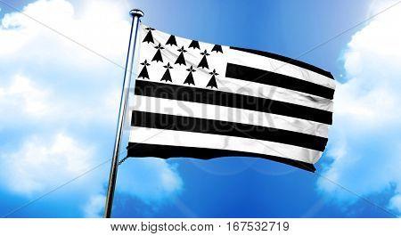 brittany, bretagne flag, 3D rendering