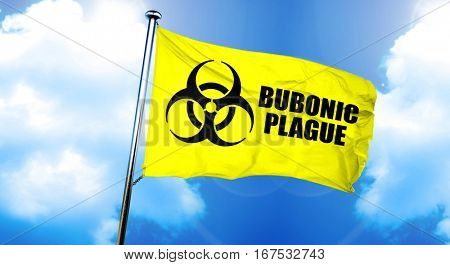 Bubonic plague flag, 3D rendering
