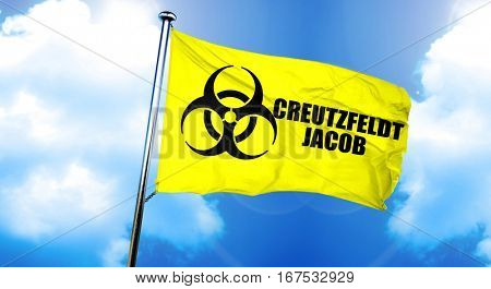 Creutzfeldt jacob flag, 3D rendering
