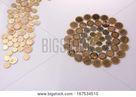 Turkish Lira Coins Shape A  Round Circle Form