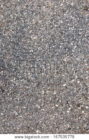 Texture of asphalt road top view shot, material background.