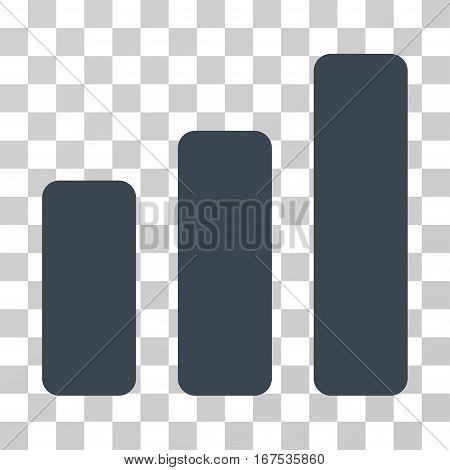 Bar Chart Increase vector pictograph. Illustration style is flat iconic smooth blue symbol on a transparent background.