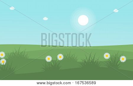 at spring beauty landscape vector collection stock
