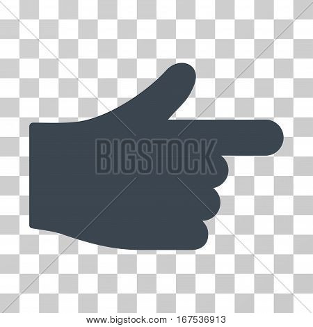 Index Hand vector pictograph. Illustration style is flat iconic smooth blue symbol on a transparent background.