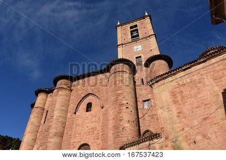 Santa Maria La Real Monastery Najera Way of St. James. La Rioja. Spain