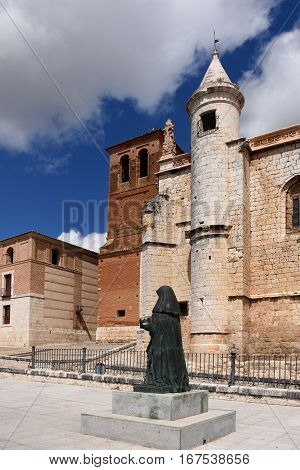 Church of San Antolin and the Houses of the Treaty in Tordesillas Valladolid province Castilla y Leon Spain