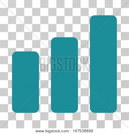 Bar Chart Increase vector pictograph. Illustration style is flat iconic soft blue symbol on a transparent background.