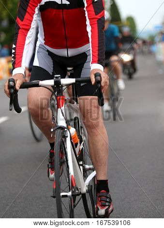 Cyclist During The Sprint To Win The Stage Of The Cycling Race