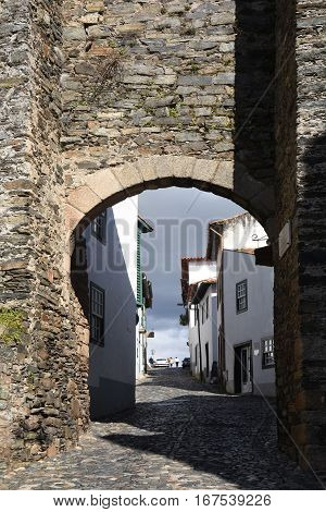 Gateway in the fortress city of BrangancaTras os MontesPortugal