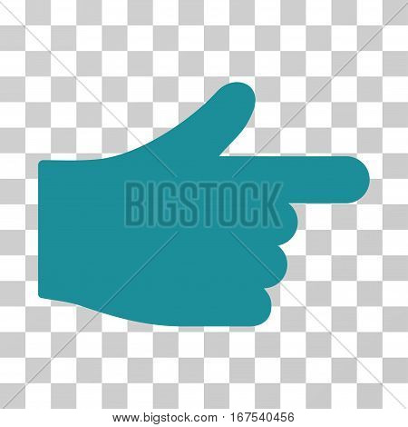 Index Hand vector pictograph. Illustration style is flat iconic soft blue symbol on a transparent background.