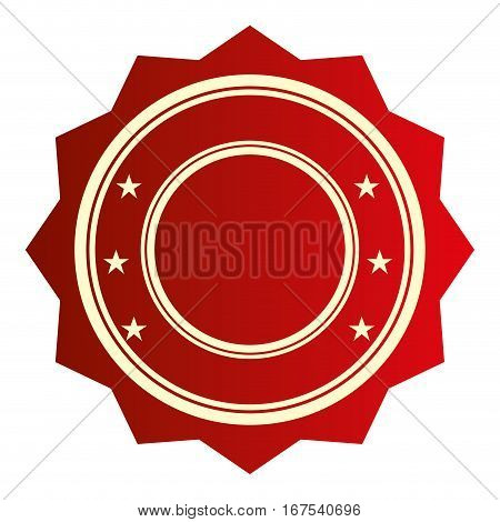 seal stamp guaranted icon vector illustration design