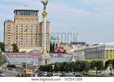 Kiev, Ukraine - June 10, 2011: Independence Square, the central square in Kiev
