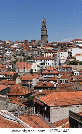 View of the city of Porto in Portugal