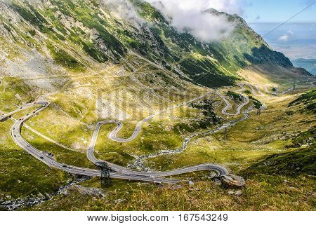 Transfagarasan highway, the most beautiful road in Europe, Romania (Transfagarashan)