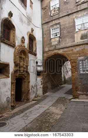 Quarrel tower in  Coimbra Beiras region Portugal