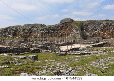 Roman ruins of the ancient city of Conimbriga Beiras region Portugal