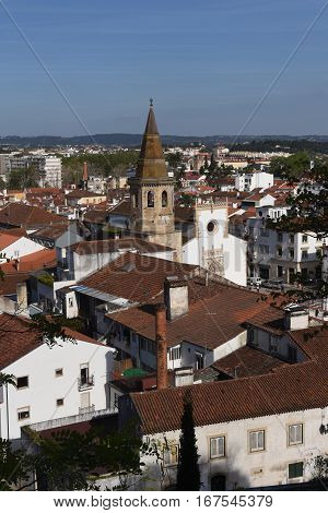 view of the town of Tomar District of Santarém Portugal