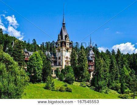 The magnificent Peles Palace, Sinaia in Romania