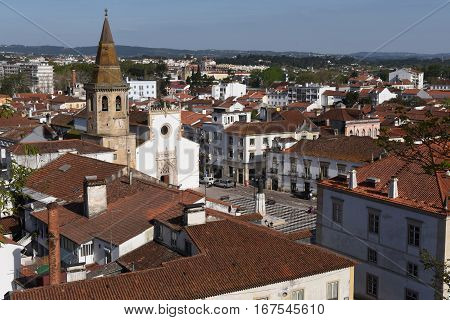 view of the town of Tomar District of Santarem Portugal