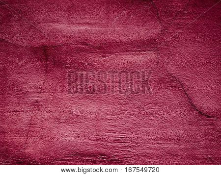 texture of red plaster wall, scarlet background