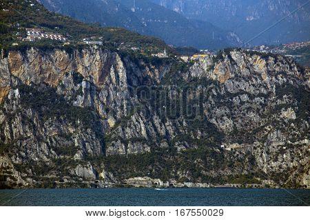 Town Of Tremosine. Italy.