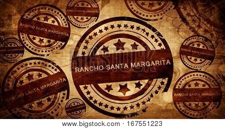 rancho santa margarita, vintage stamp on paper background