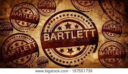 bartlett, vintage stamp on paper background