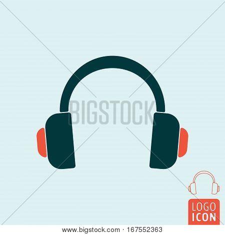 Headphone icon. Wireless headphones symbol. Vector illustration