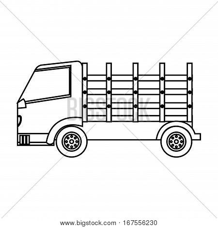 Stakes truck isolated icon vector illustration design