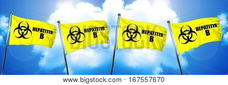 Hepatitis B flag, 3D rendering