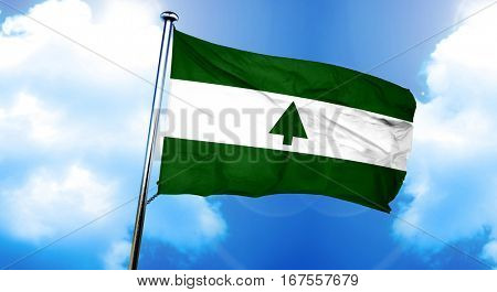 Greenbelt flag, 3D rendering