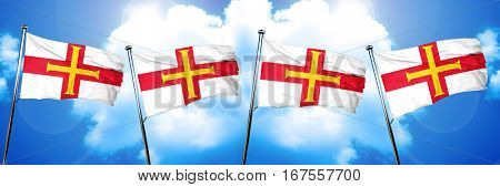 Guernsey channel island flag, 3D rendering