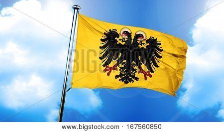Holy roman empire flag, 3D rendering