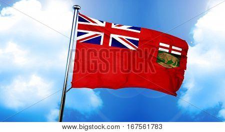 Manitoba flag, 3D rendering