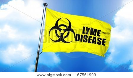 Lyme disease flag, 3D rendering