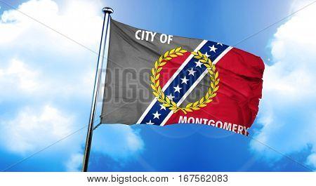 Montgomery flag, 3D rendering