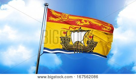New brunswick flag, 3D rendering